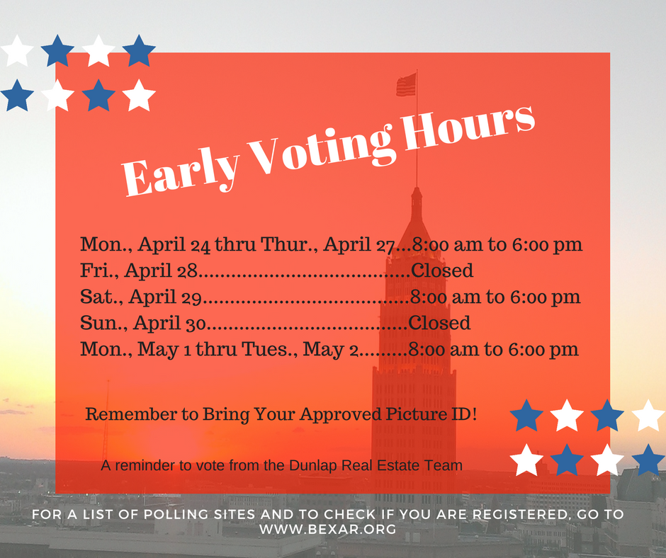Early Voting Dates and Hours